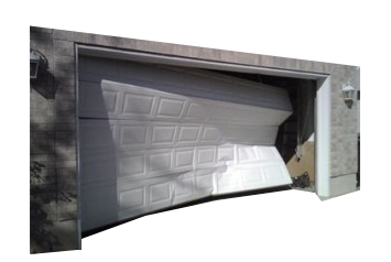 dented garage door